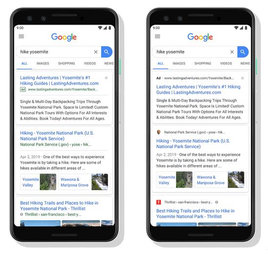 Aperçu du réseau de recherche Google