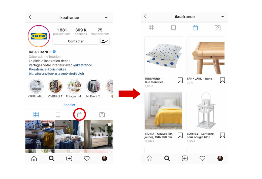 Profil Instagram d'Ikea