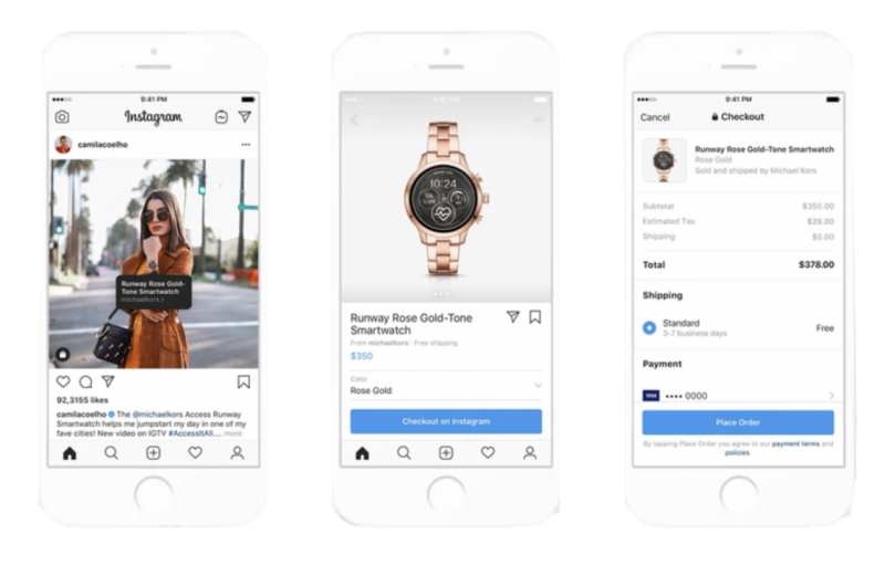 Instagram Shopping dans le fil d'actualité