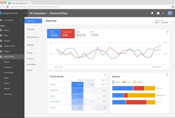 nouvelle interface Google Adwords